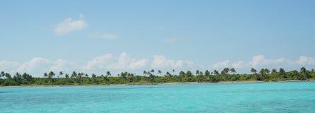 绿松石加勒比海 免版税库存照片