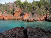 绿松石和红色 库存照片