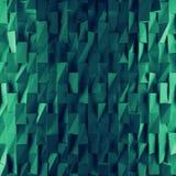 绿松石抽象正方形背景 回报几何多角形的3d 免版税库存照片