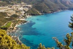 绿松石撒丁岛 库存图片