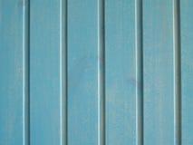 绿松石木背景-书桌桌墙壁或地板的被绘的木板条 免版税库存照片