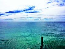绿松石海 库存照片