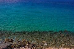 绿松石海 免版税图库摄影