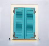 绿松石窗口 免版税库存照片