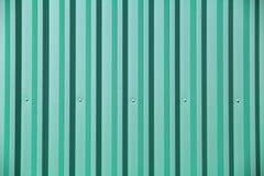 绿松石金属墙壁 免版税图库摄影
