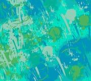 绿松石难看的东西油漆泼溅物背景 免版税库存图片