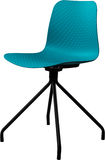 绿松石颜色塑料椅子,现代设计师 在白色背景隔绝的转椅 家具例证内部向量 免版税图库摄影