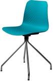 绿松石颜色塑料椅子,现代设计师 在白色背景隔绝的转椅 家具例证内部向量 库存图片