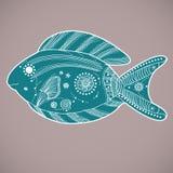 绿松石鱼 免版税库存图片