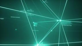 绿松石黑暗的结节网络Loopable 皇族释放例证