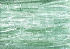 绿松石绿色抽象水彩背景 库存照片