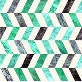 绿松石V形臂章之字形葡萄酒纸无缝的tileable样式 印刷品的老减速火箭的蓝色和绿皮书纹理,网,工艺 库存图片