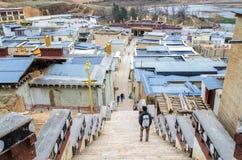 松赞林寺是云南的最大的藏传佛教修道院 它称小的布达拉宫或Ganden总和 免版税库存照片