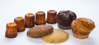 松饼、Cannelles和曲奇饼 库存照片