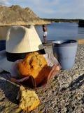松饼和帽子 免版税库存照片