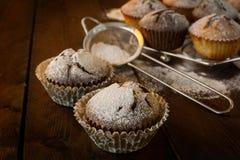 松饼和烘烤筛子 免版税图库摄影