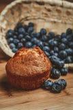 松饼和蓝莓 免版税库存照片