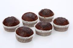 松饼,巧克力杯形蛋糕,被隔绝 免版税库存照片