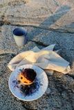 松饼,石头 库存图片