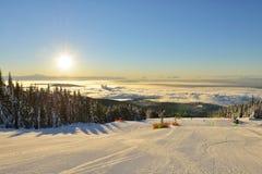 松鸡山滑雪小山 库存照片