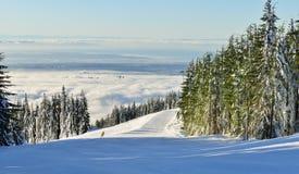 松鸡山滑雪小山 库存图片