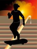 滑板传染媒介例证 免版税图库摄影