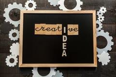 黑板创造性的概念 库存图片