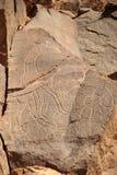 板刻利比亚岩石 免版税库存照片