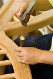 板刻木头 库存照片