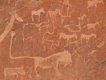 板刻纳米比亚岩石twyfelfontein 图库摄影