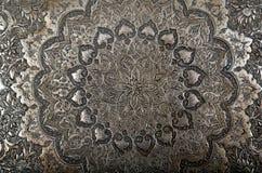 板刻金属波斯语 免版税库存照片