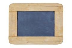 黑板剪报框架查出的路径空白木 免版税库存图片