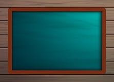 黑板在木样式纹理的背景模板 库存照片