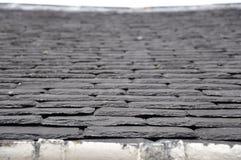 板岩屋顶 库存图片