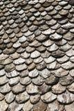 板岩瓦片屋顶  免版税图库摄影