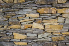 板岩石墙纹理 免版税库存图片