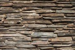 板岩石墙纹理 库存照片
