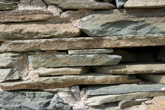 板岩石墙 免版税库存照片