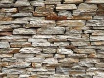 板岩砖墙 免版税库存图片
