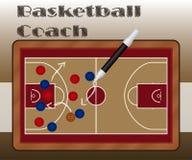 板岩篮球教练 库存图片
