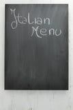 黑板意大利人菜单 库存照片