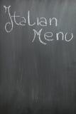 黑板意大利人菜单 免版税库存图片