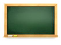 黑板或黑板在白色背景 库存图片