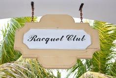 板拍球俱乐部标志 库存照片