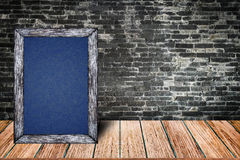 黑板木框架,黑板办公室餐馆装饰酒吧的家的标志菜单 库存照片