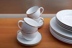板材、茶杯 库存图片