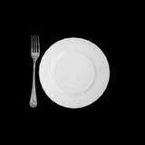 板材和叉子 免版税库存照片