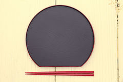板材和筷子 免版税库存图片