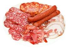 板材用各种各样的肉纤巧 图库摄影