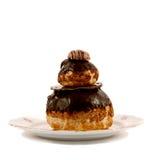 板材的法国法式蛋糕铺 库存图片